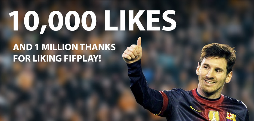 FIFPlay Facebook Page Got 10000 Likes
