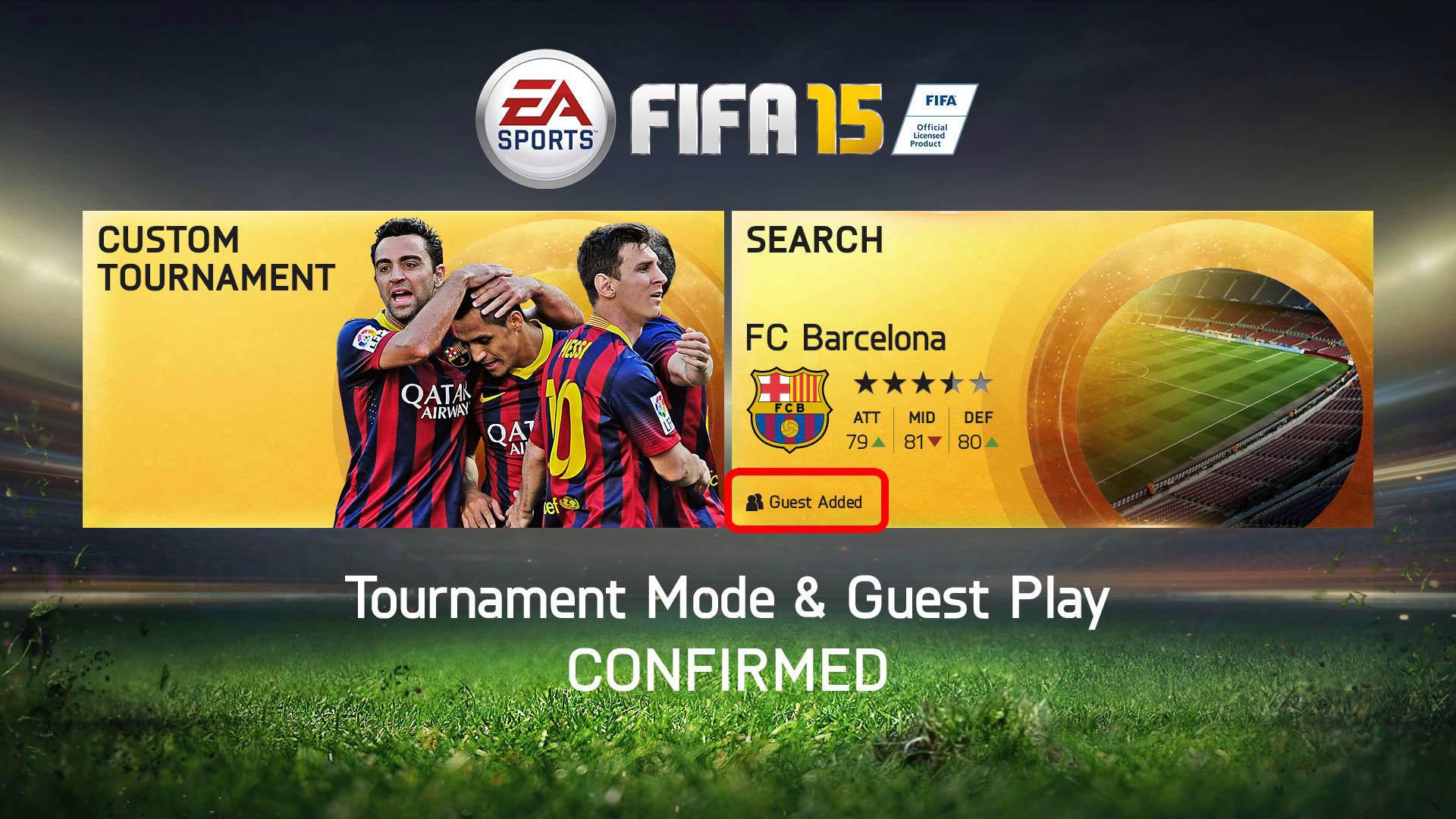 FIFA 15 Interface