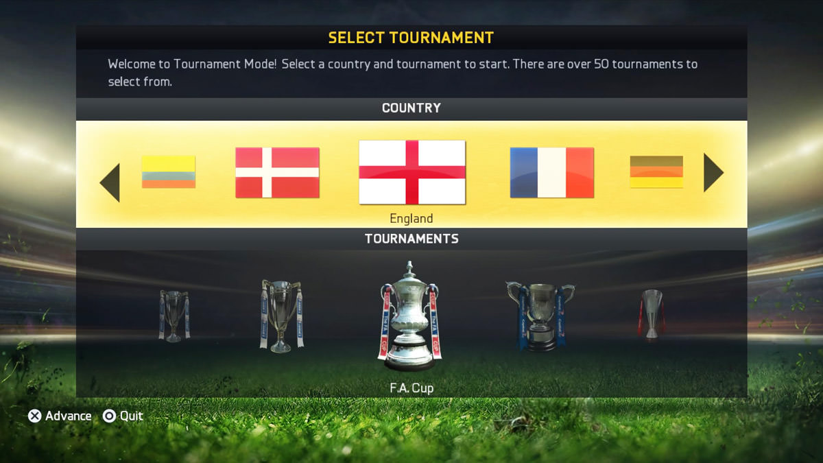 FIFA 15 Tournament Mode
