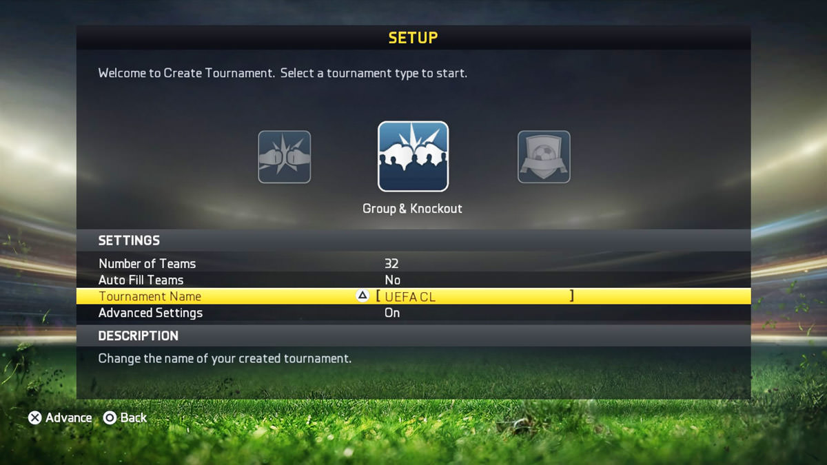 After deciding on this you can start setting up uefa cl tournament in