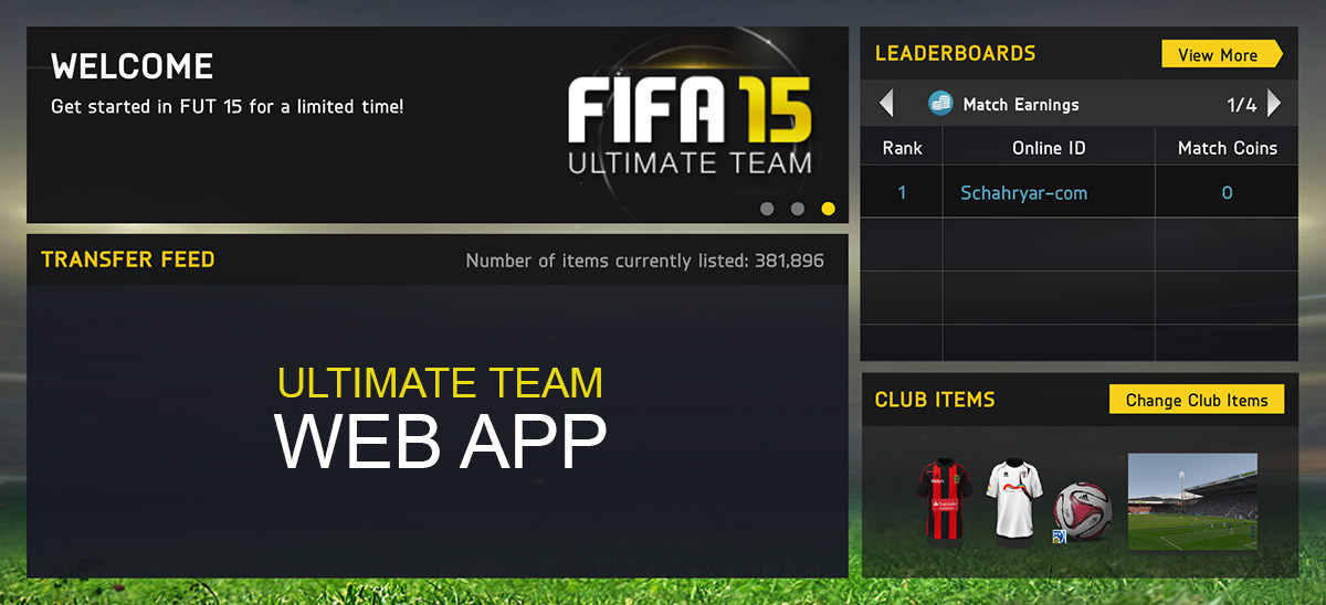 FIFA 15 Ultimate Team Web App