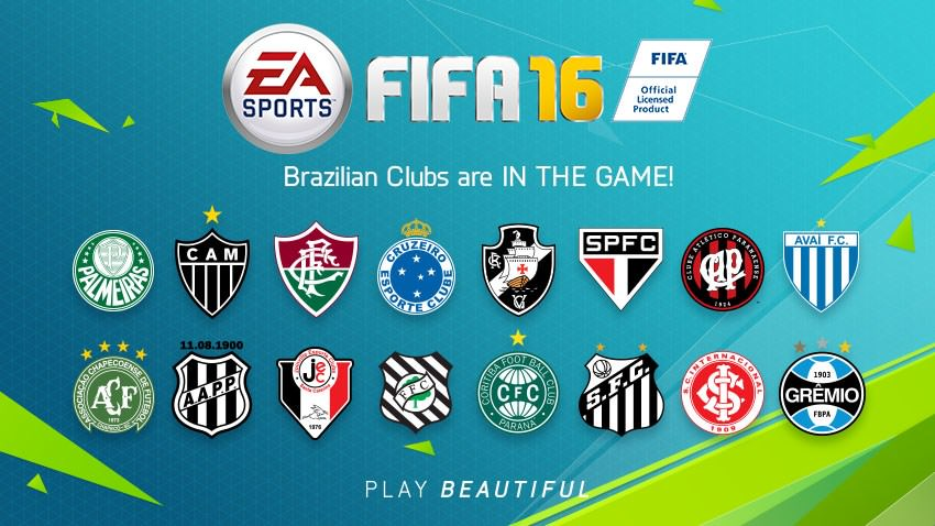 16 Brazilian Clubs in FIFA 16 Rest of the World