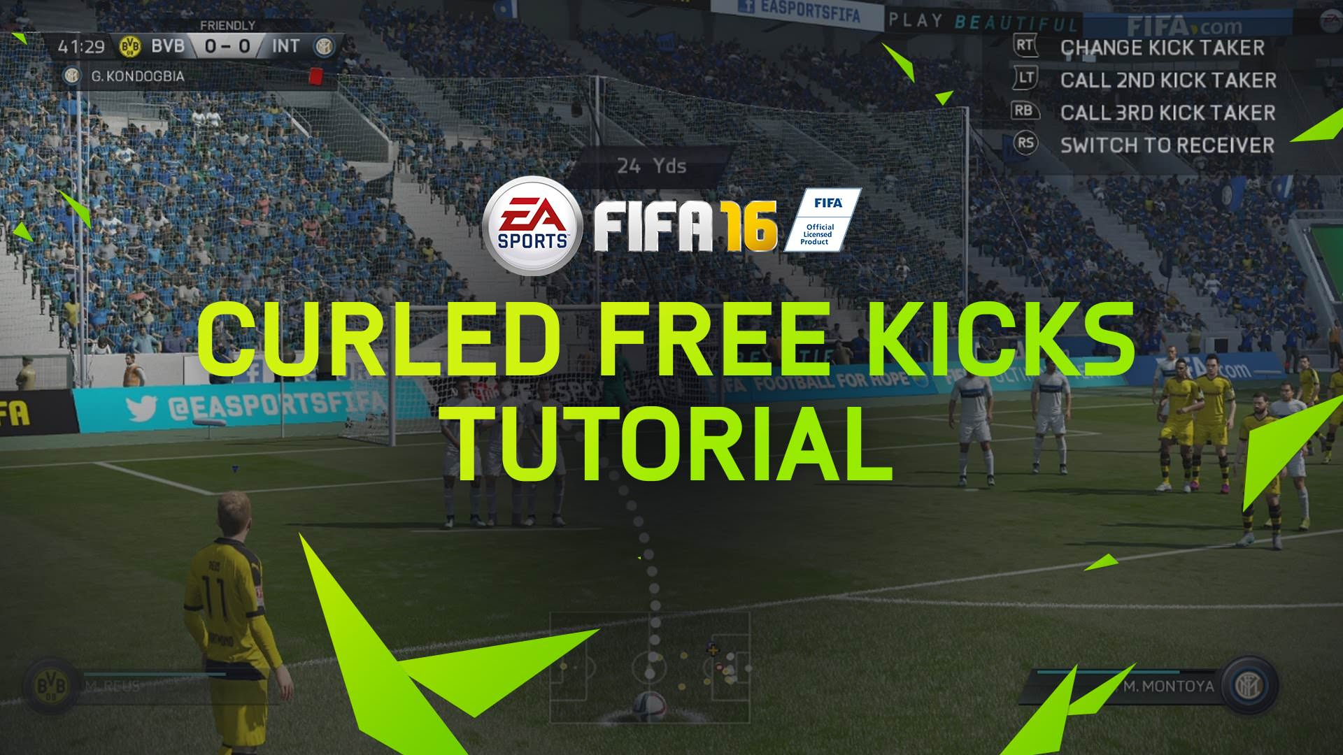 FIFA 16 Tips – Curled Free Kicks