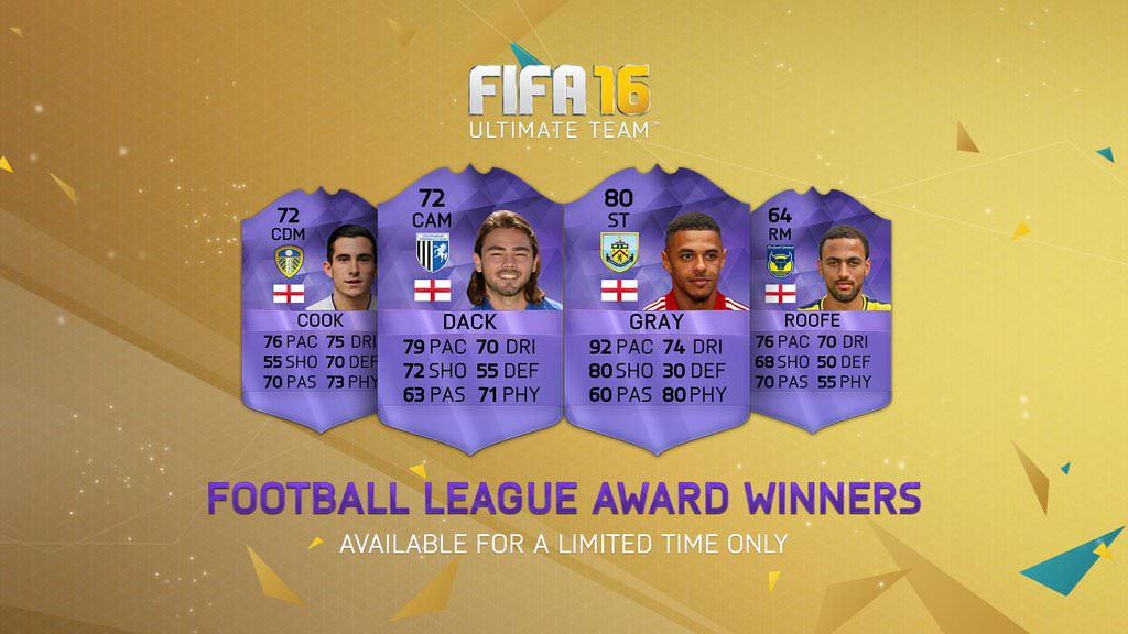 FUT 16 Football League – Team of the Season