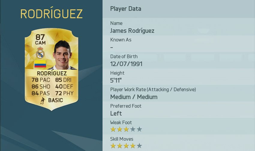 FIFA 16 James Rodríguez