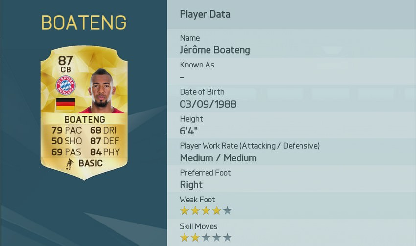 Jerome Boateng FIFA 16