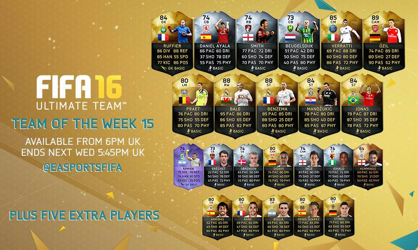 FIFA 16 Ultimate Team – Team of the Week 15