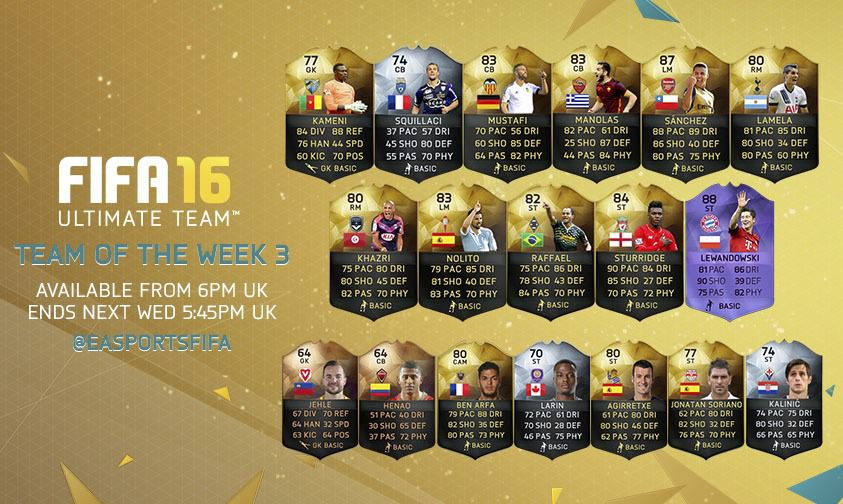 FIFA 16 Ultimate Team - Team of the Week 3