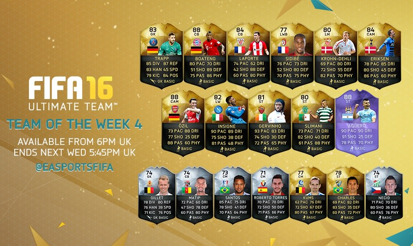 FIFA 16 Ultimate Team – Team of the Week 4