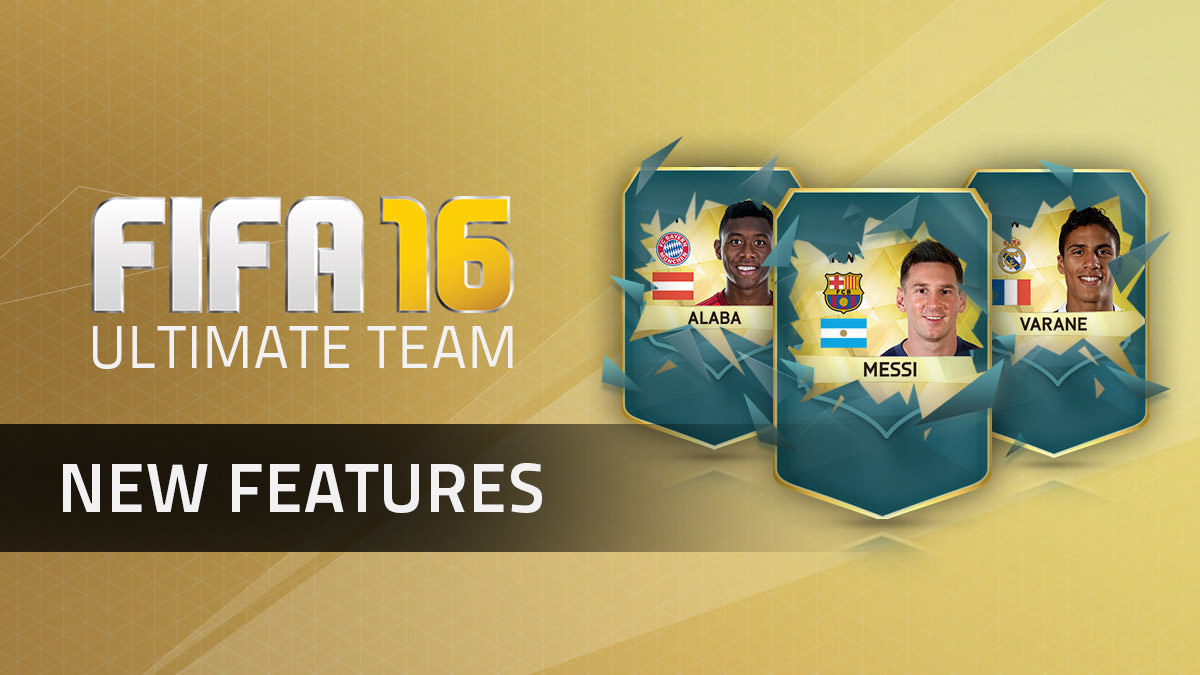 FIFA 16 Ultimate Team – New Features