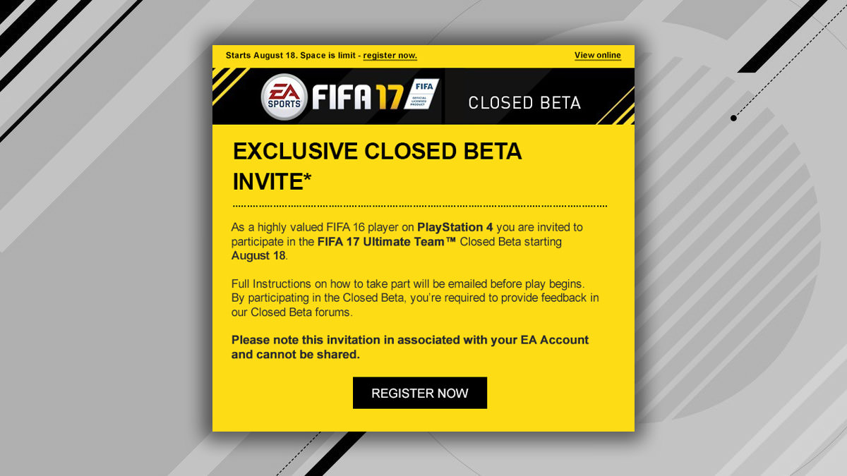 FIFA 17 Closed Beta Download