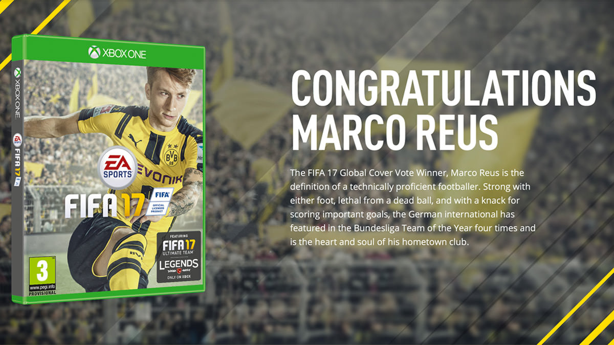 Marco Reus Won the FIFA 17 Global Cover Vote