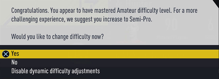 Dynamic Difficulty Adjustment