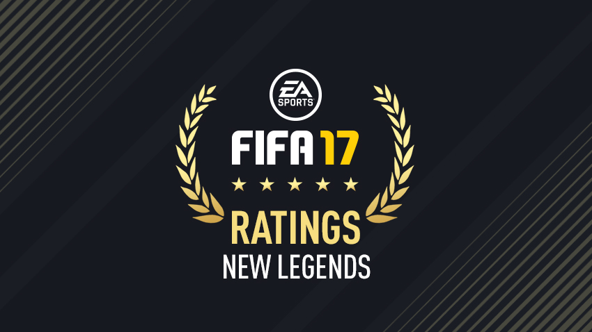 FIFA 17 New Legends Ratings