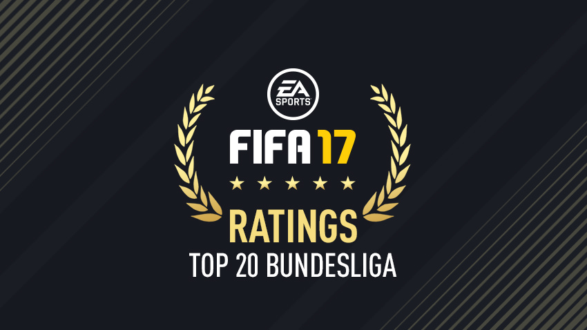 FIFA 17 Player Ratings – Top 20 Bundesliga