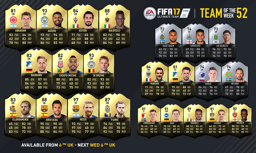 FIFA 17 Team of the Week 52