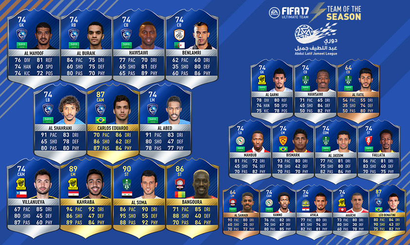 FIFA 17 TOTS Dawry Jameel League