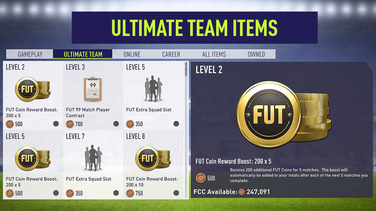 EASFC Catalogue - Ultimate Team Items