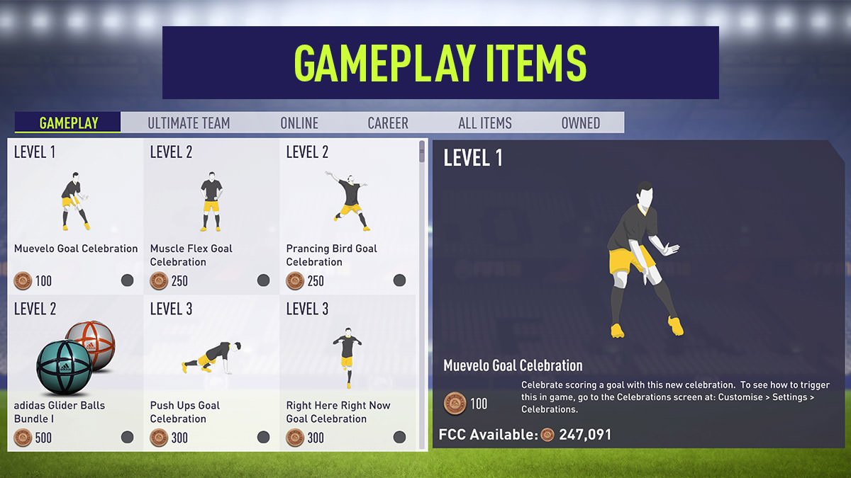 EASFC Catalogue - Gameplay Items