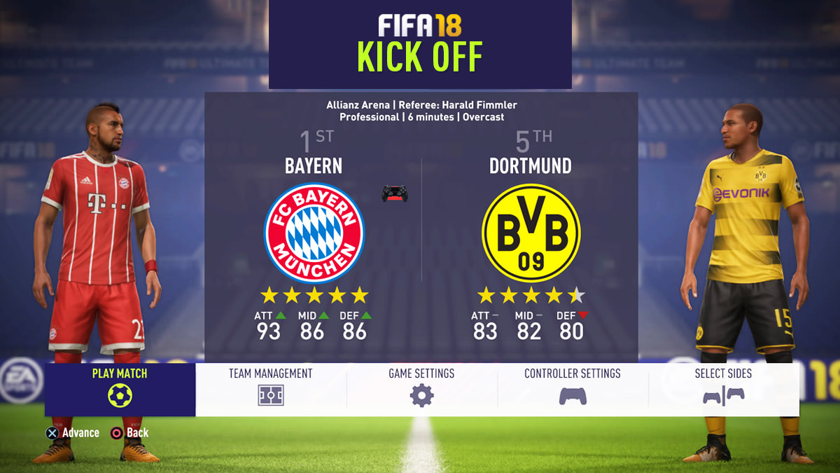 FIFA 18 Kick Off Mode