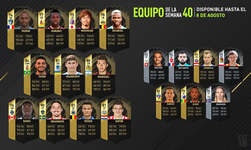 FIFA 18 Team of the Week 40