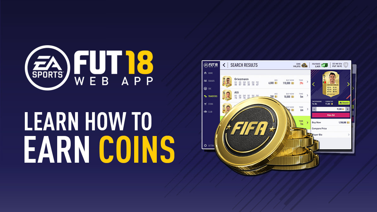 How to Earn Coins Using FIFA 18 Web App