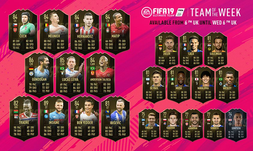 FIFA 19 Team of the Week 2
