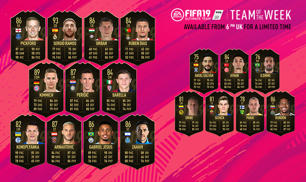 FIFA 19 Team of the Week 39
