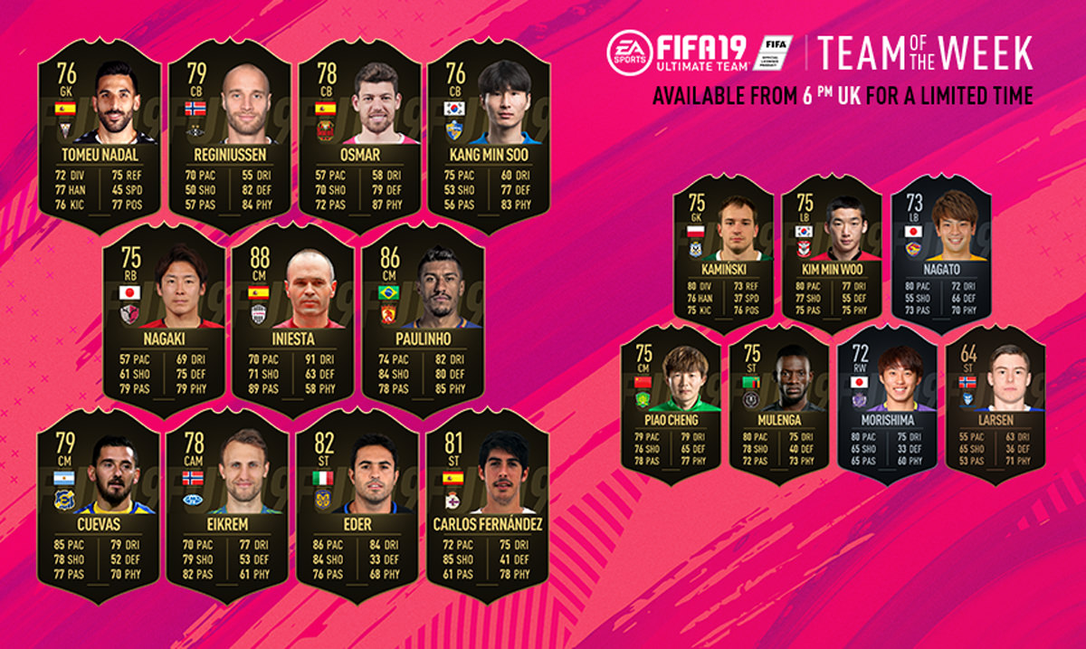 FIFA 19 Team of the Week 40
