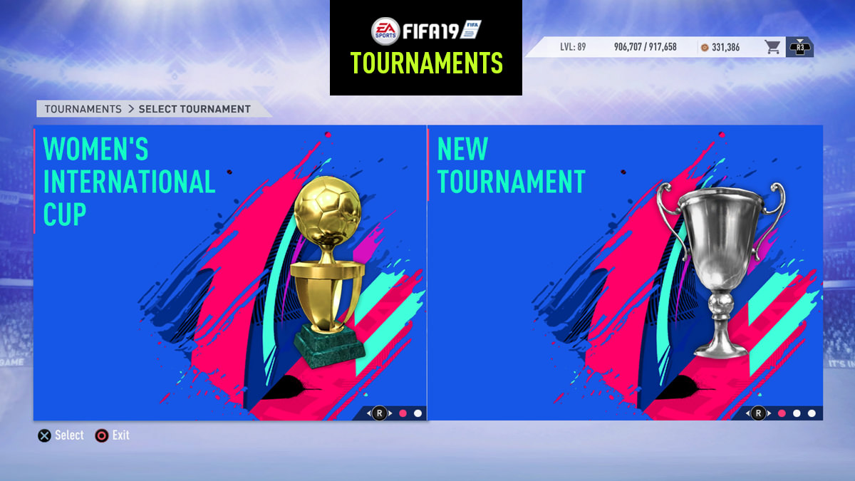 FIFA 19 Tournament Mode