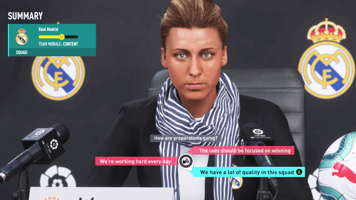 Career Mode Female Manager