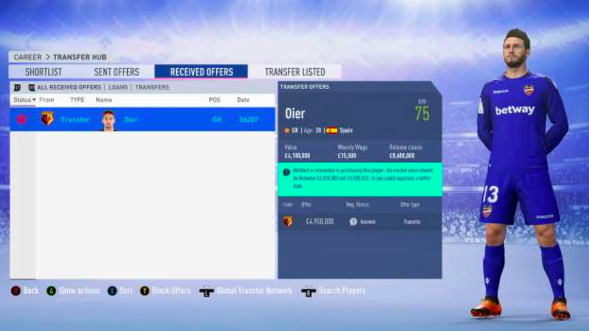 FIFA 20 Career Mode Transfer