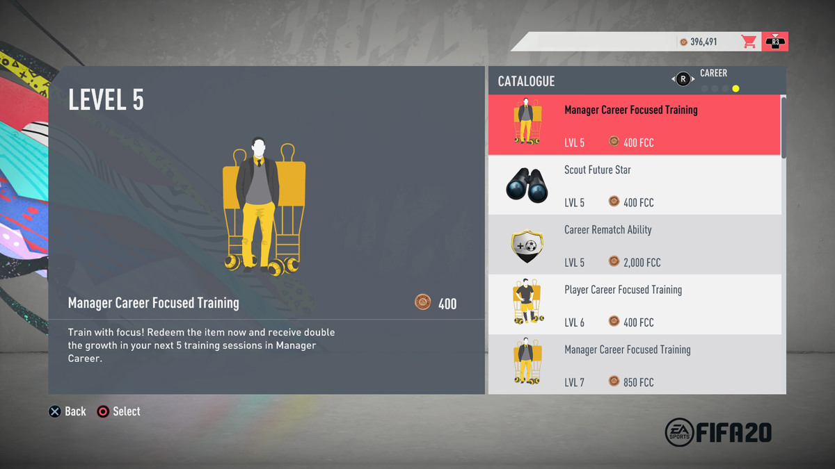 EASFC Catalogue - Career Mode Items