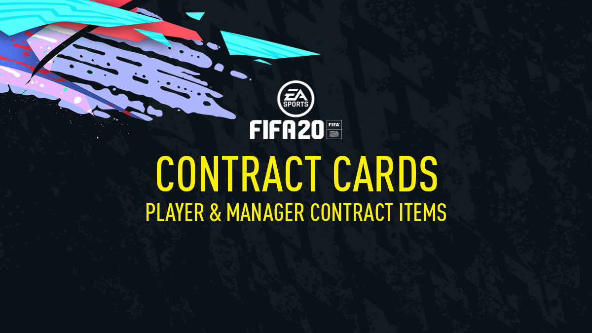 FIFA 20 Contract Cards