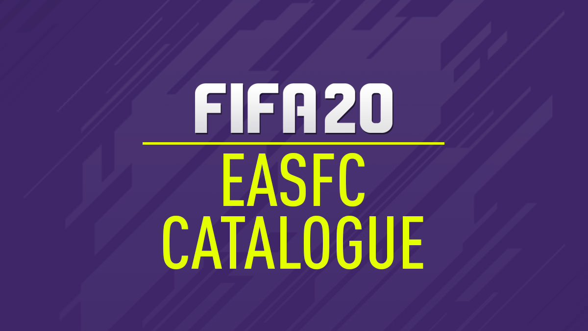 FIFA 20 EASFC Catalogue