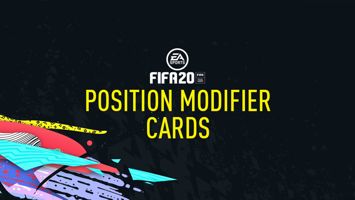 FIFA 20 Position Modifier Cards (Position Change)
