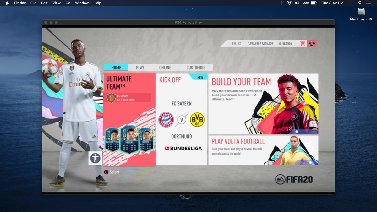 FIFA 20 Remote Play – Playing FIFA 20 PS4 on PC, Mac,  Phone & PS Vita