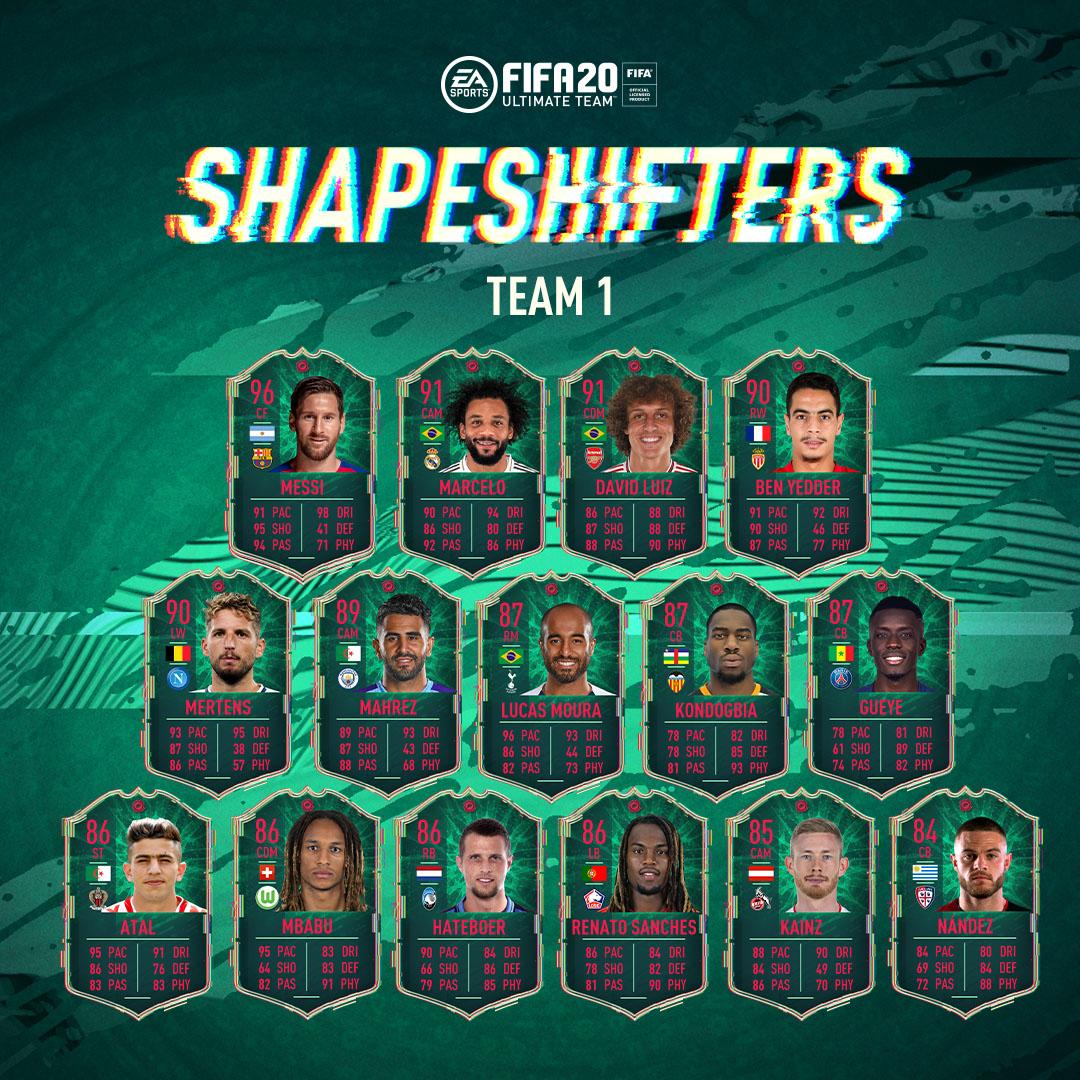 Zmiennokształtni FIFA 20