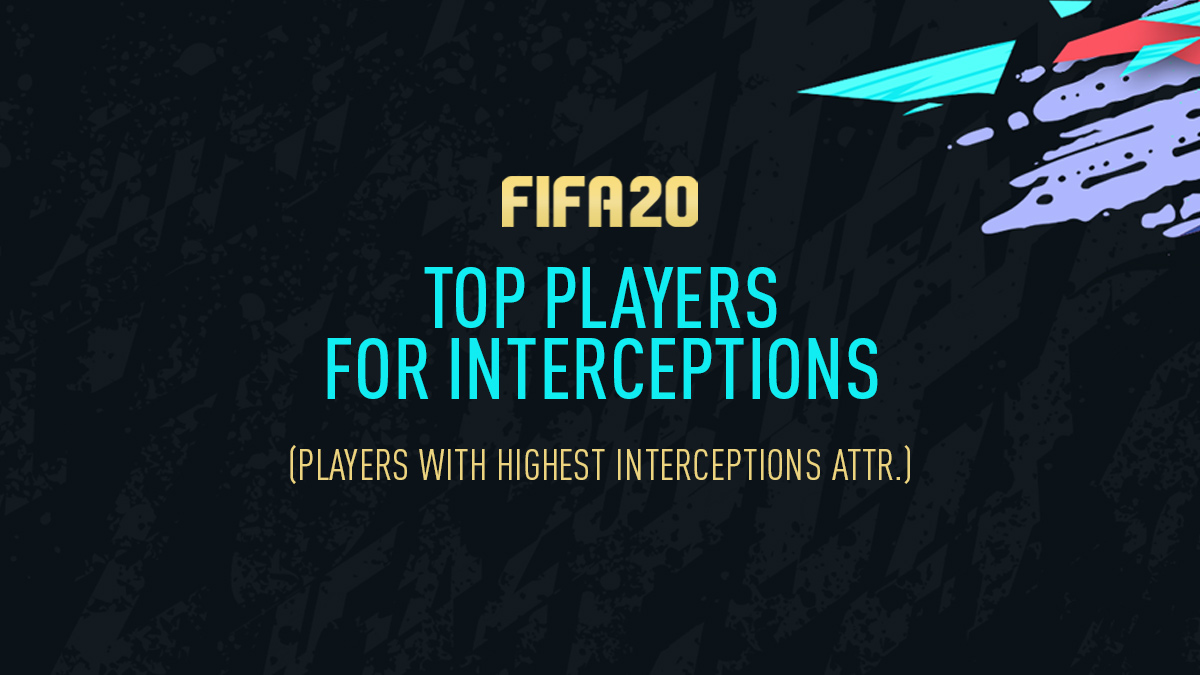 FIFA 20 – Top Players for Interceptions