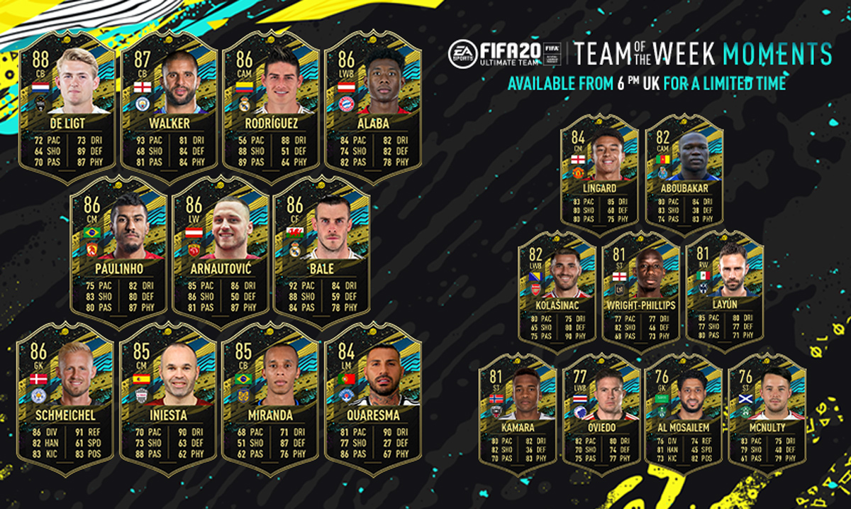 FIFA 20 Team of the Week Moments 1 (TOTW Moments 1)