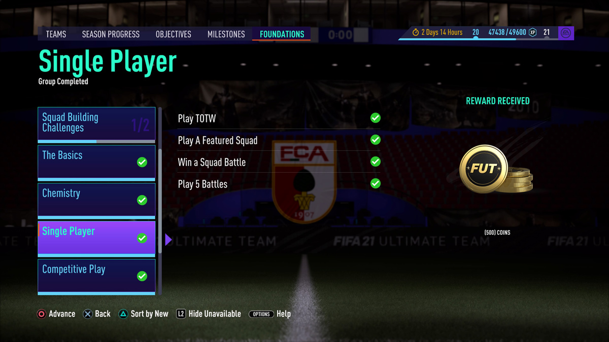 Earn Coins by Completing FIFA 21 Objectives