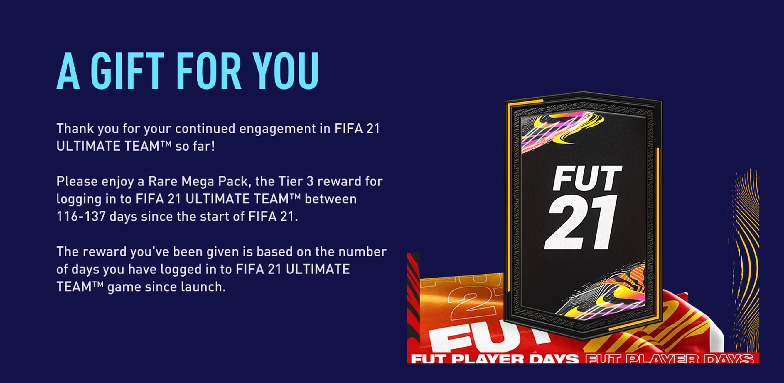 FUT Player Days Free Gift Pack