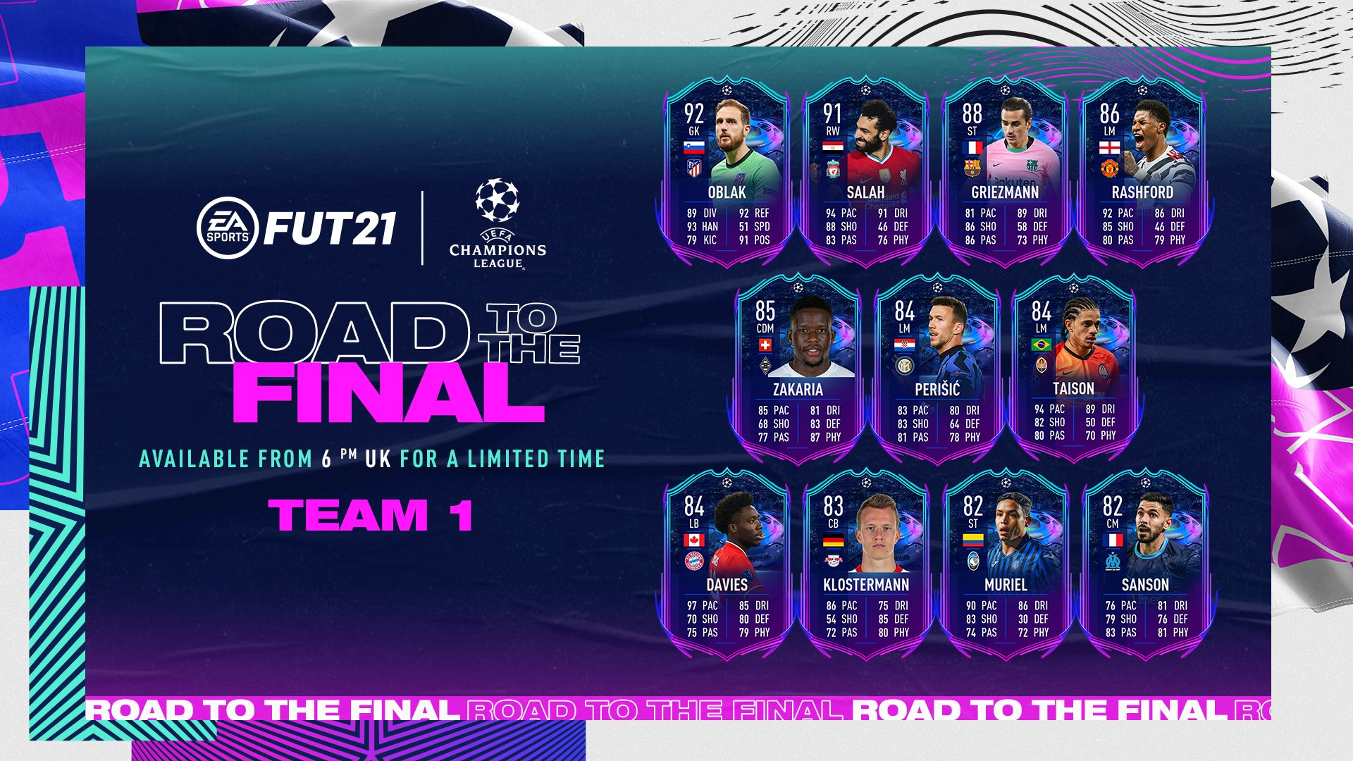 UEFA Champions League Road to the Final Players