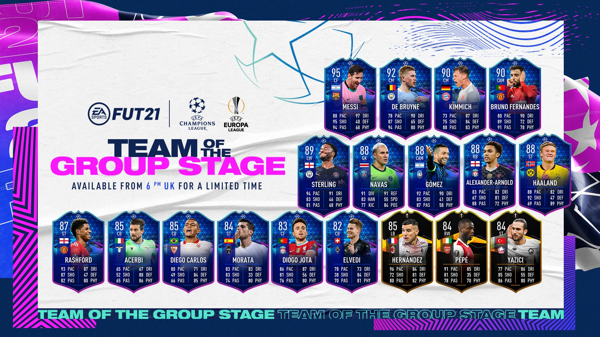 FIFA 21 Ultimate Team - Team of the Group Stage Players