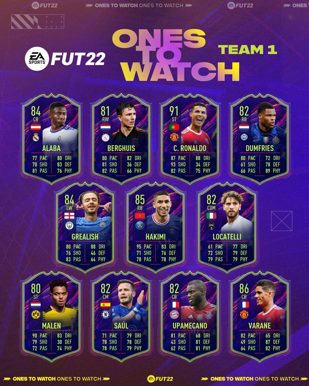 FIFA 22 para ver al Equipo 1