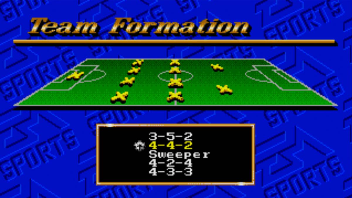 FIFA International Soccer Formations
