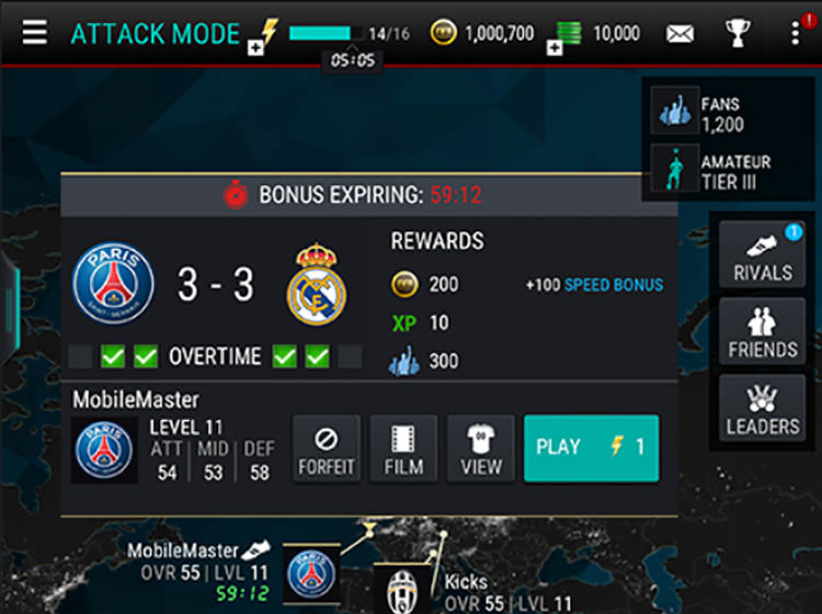 FIFA Mobile Attack Mode Overtime