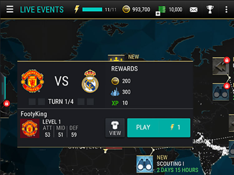 FIFA Mobile Attack Mode Starting Game