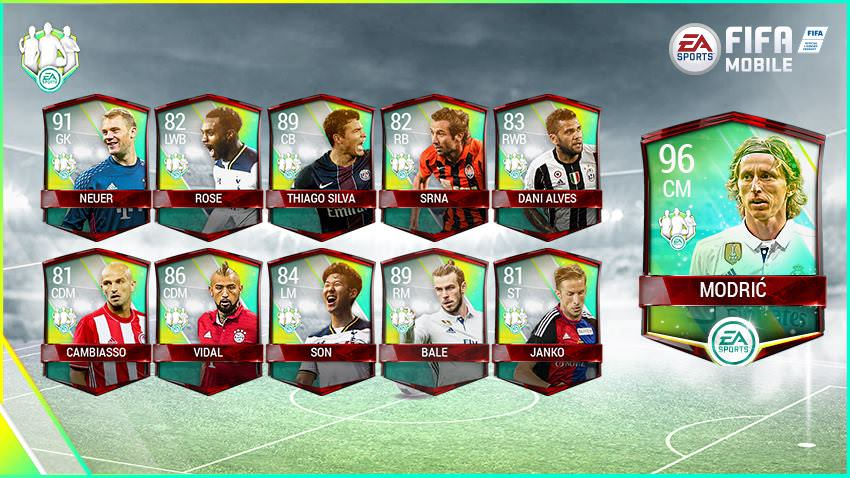 FIFA Mobile Vs Attack Community Team of the Week 1
