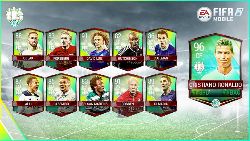 FIFA Mobile Vs Attack Community Team of the Week 4